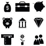 Banking icon set. The banking of icon set Stock Photo