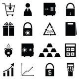 Banking icon set. The banking of icon set Stock Image