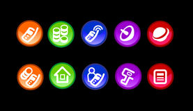 Banking icong. The banking theme vector round icons with glass effect royalty free illustration