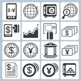 Banking icons. Set of 16 banking icons, financial icons Royalty Free Stock Photography