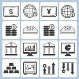 Banking icons. Set of 16 banking icons, financial icons Stock Photo