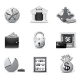 Banking icons | B&W series Stock Photography