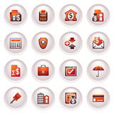 Banking icons. Black red series. Vector icons set for websites, guides, booklets Stock Image