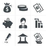 Banking icons Royalty Free Stock Photos