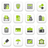 Banking icons. Green gray series. Royalty Free Stock Image