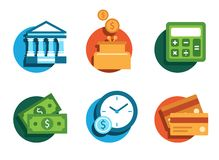 Banking icons Stock Images