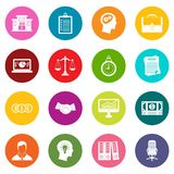 Banking icons many colors set. Isolated on white for digital marketing Stock Image