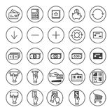 Banking icons set Royalty Free Stock Photos