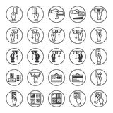 Banking icons set Royalty Free Stock Image
