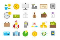 Banking   icons set Royalty Free Stock Photography