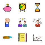 Banking icons set, cartoon style. Banking icons set. Cartoon illustration of 9 banking vector icons for web Royalty Free Stock Images