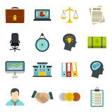 Banking icons set, flat style. Banking icons set in flat style. Money, finance elements set collection vector illustration Stock Photos