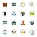 Banking icons set, flat style. Banking icons set in flat style. Money, finance elements set collection vector icons set illustration Royalty Free Stock Photo