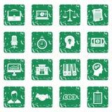 Banking icons set grunge Stock Photo