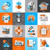 Banking Icons Set Stock Photography