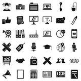 Banking icons set, simle style. Banking icons set. Simple style of 36 banking vector icons for web isolated on white background Stock Photography