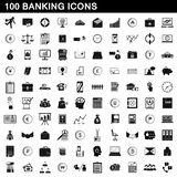100 banking icons set, simple style. 100 banking icons set in simple style for any design illustration royalty free illustration