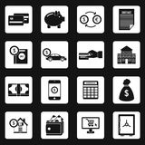 Banking icons set , simple style. Banking icons set in simple style. Financial service set collection vector illustration Royalty Free Stock Photo