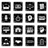 Banking icons set, simple style Stock Images