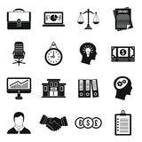 Banking icons set, simple style. Banking icons set in simple style. Money, finance elements set collection vector illustration Stock Photos