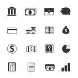 Banking icons. Set. Vector illustration Stock Photo