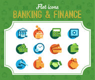 Banking icons Stock Photo