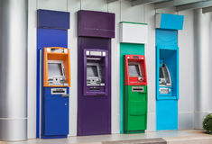 Banking machine or ATM automatic teller machine cash money machine. Banking machine or ATM automatic teller machine  cash  money machine on the wall Stock Photo