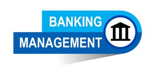 Banking management banner. Icon on isolated white background - vector illustration Stock Photos