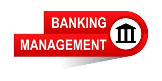 Banking management banner. Icon on isolated white background - vector illustration Stock Images