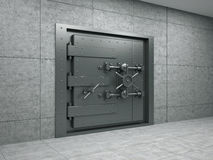 Banking metallic door Stock Image