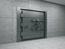 Banking metallic door. 3d illustration of banking metallic door Stock Image