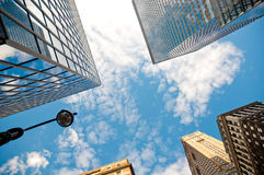Banking modern high rises in New York Royalty Free Stock Photos