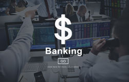 Banking Money Cash Online Website Internet Concept Stock Photography