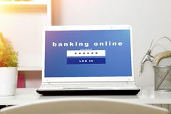 Banking online Royalty Free Stock Photo