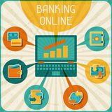 Banking online infographic Stock Photos