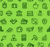 Banking Pattern Background. Vector. Banking Pattern Background on a Green Trendy Design for Business, Banks, Currency Exchange. Vector illustration Royalty Free Stock Image