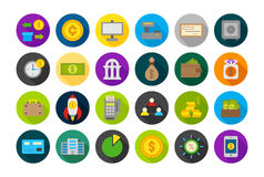 Banking round vector icons set Royalty Free Stock Photography