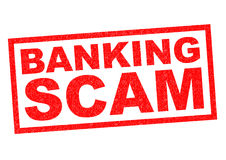 BANKING SCAM. Red Rubber Stamp over a white background royalty free illustration