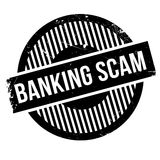 Banking Scam rubber stamp. Grunge design with dust scratches. Effects can be easily removed for a clean, crisp look. Color is easily changed Royalty Free Stock Photography