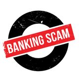 Banking Scam rubber stamp. Grunge design with dust scratches. Effects can be easily removed for a clean, crisp look. Color is easily changed Stock Photos