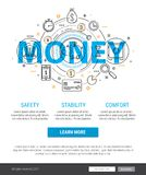 Banking service and finance concept illustration Stock Image