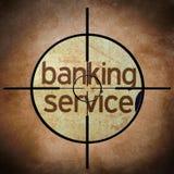 Banking service target Stock Image