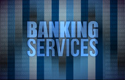 Banking services on digital screen, business Stock Photos