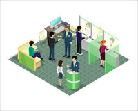 Banking Services Vector in Isometric Projection. Stock Photos