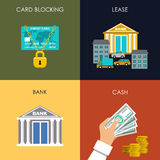 Banking set icons Stock Images