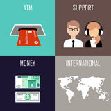 Banking set icons Stock Photography