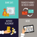 Banking set icons Royalty Free Stock Images