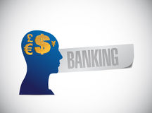 Banking sign illustration design. Over a white background Stock Photography