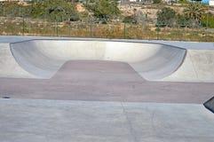 Banking At A Skate Park - Roller Blading Skating Kids sport Stock Photo