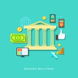 Banking Solution Concept Royalty Free Stock Photo
